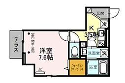 (仮称)D-room美園3丁目 1階1Kの間取り
