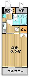 シティハイツ須磨[3階]の間取り