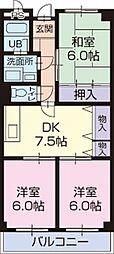 静岡県島田市旭3丁目の賃貸マンションの間取り