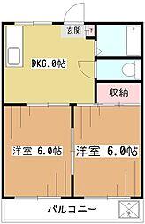 コーポ嶋田I[2階]の間取り
