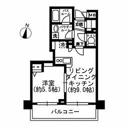 東京都千代田区岩本町1丁目の賃貸マンションの間取り
