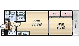 サンフレイム[3階]の間取り