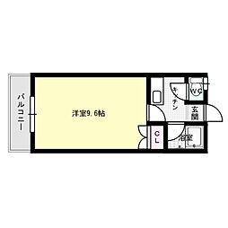 アミティエ南福岡[1階]の間取り
