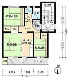 神奈川県横浜市栄区野七里1丁目の賃貸マンションの間取り
