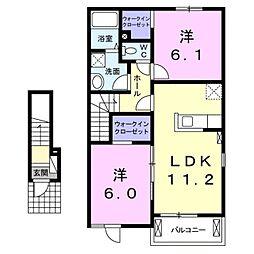 ティディーナI[2階]の間取り