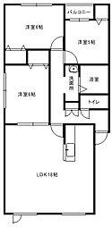 北海道札幌市白石区中央一条6丁目の賃貸アパートの間取り