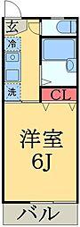 千葉県千葉市中央区南町1丁目の賃貸アパートの間取り