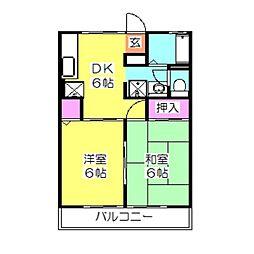 神奈川県横浜市港北区箕輪町2丁目の賃貸アパートの間取り
