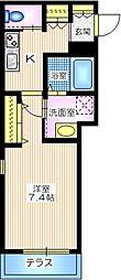仮称 三ツ沢中町メゾン 2階1Kの間取り