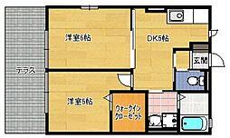 サンハイツ有田B棟[2階]の間取り