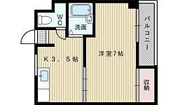 Jiro淡路[1階]の間取り