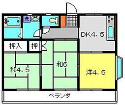 下瀬谷ハイツ第3[201号室]の間取り