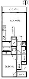 神奈川県川崎市中原区小杉御殿町2丁目の賃貸マンションの間取り