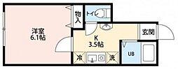 アイコート田無 1階1Kの間取り