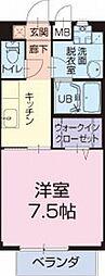 静岡県湖西市新居町新居の賃貸アパートの間取り