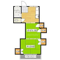 富田マンション[3階]の間取り