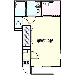 アムール矢澤[1階]の間取り