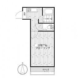 ルーエハイム[1階]の間取り