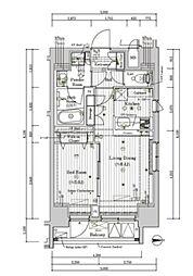 プレール・ドゥーク文京湯島 2階1DKの間取り