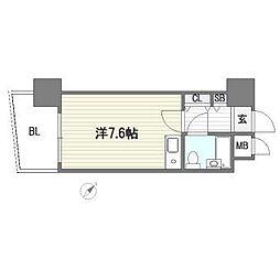 ステイタスマンション博多駅前[6階]の間取り