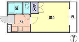 福岡県福岡市早良区田村4丁目の賃貸アパートの間取り