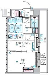 GENOVIA 練馬春日町 skygarden 5階1DKの間取り