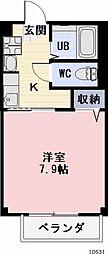 愛知県豊川市豊が丘町の賃貸アパートの間取り
