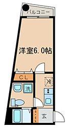 仮称)中野区中野3丁目計画 2階1Kの間取り