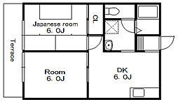 リバリーハイツ[1階]の間取り