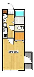 ルネッサ高津[3階]の間取り