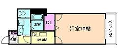 (仮称)池田市シャーメゾン城南3丁目PJ 2階1Kの間取り
