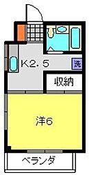 ナガツナビル[2階]の間取り