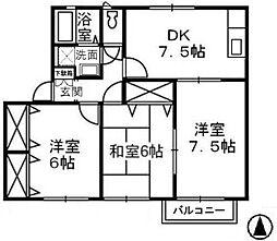 アエル乙島 B[201号室]の間取り
