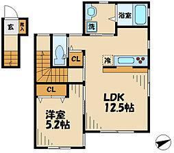 仮)多摩区中野島5丁目新築 2階1LDKの間取り