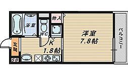大阪府堺市北区奥本町1丁の賃貸アパートの間取り