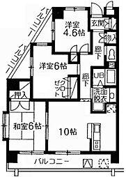 グリーンロード鷺宮 3階3LDKの間取り