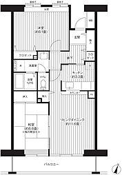 コーポレート浦和中島1号棟[202号室]の間取り