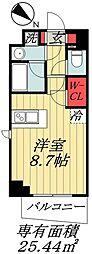 東京メトロ東西線 行徳駅 徒歩10分の賃貸マンション 4階ワンルームの間取り