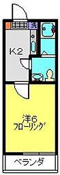 ルピナス・イースト[102号室]の間取り