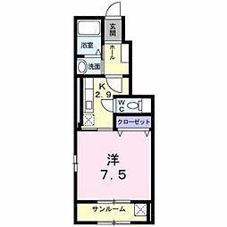 新潟県新潟市北区白新町4丁目の賃貸アパートの間取り