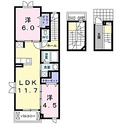 LILAS[3階]の間取り