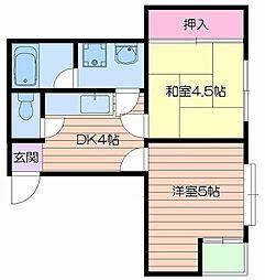 ルファール桜ノ宮[4階]の間取り