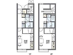 レオパレスボヌール[2階]の間取り
