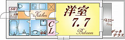 KTIレジデンス須磨浦通 2階1Kの間取り