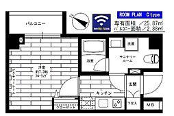 東京メトロ半蔵門線 水天宮前駅 徒歩2分の賃貸マンション 1階1Kの間取り