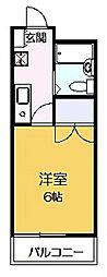 ソレイユ稲田堤[102号室]の間取り