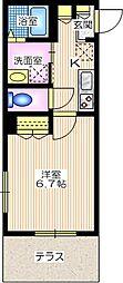 相鉄本線 瀬谷駅 徒歩7分の賃貸マンション 1階1Kの間取り