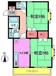 千葉県市川市島尻の賃貸アパートの間取り