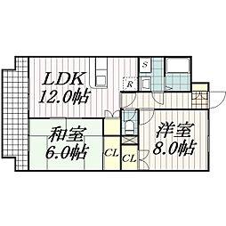 コモディ本郷[2階]の間取り