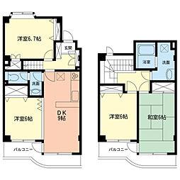 ビューハイツ宮崎台[2階]の間取り